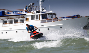 Seafin and one of the Jet Skis