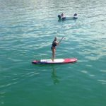 Woman StandUp Paddleboarding